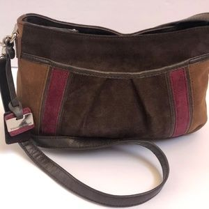 Tignanello Crossbody Genuine Leather Brown Patched